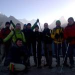 Nepalas Hihike Vertėjo keltis 5 h ryto - saulėtekis virš Everesto