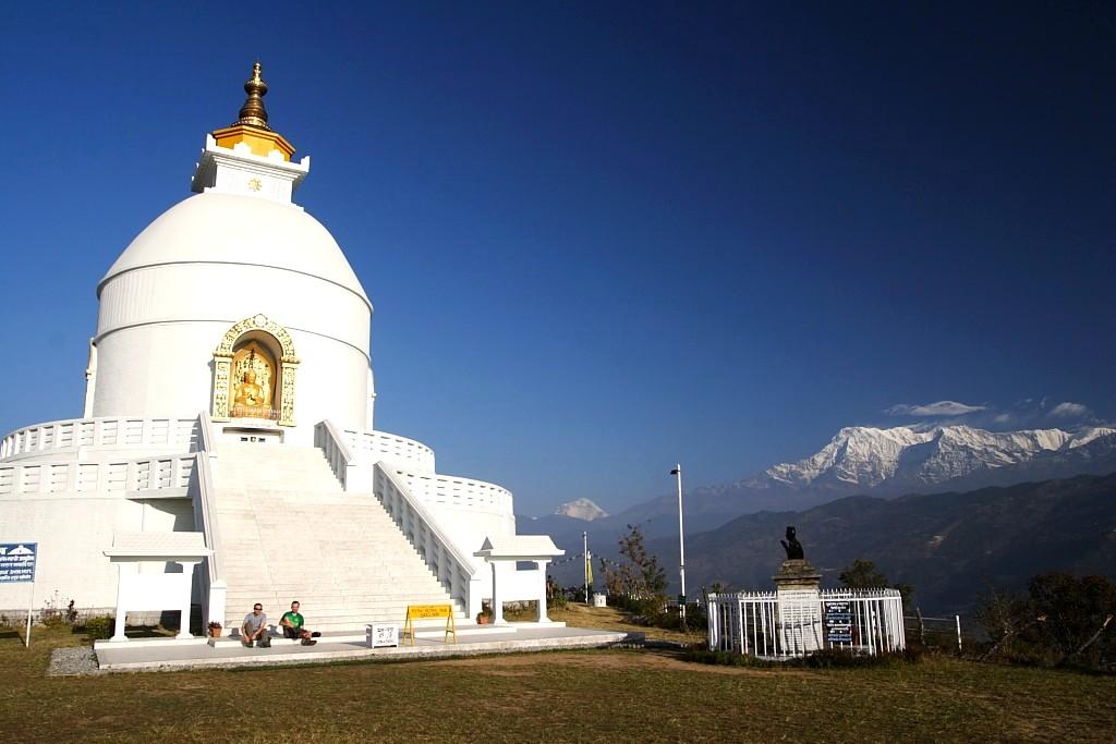 Nepalas Pasaulio Taikos pagoda Pokaroje