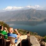 Nepalas - Phewa ežeras ir Himalajai
