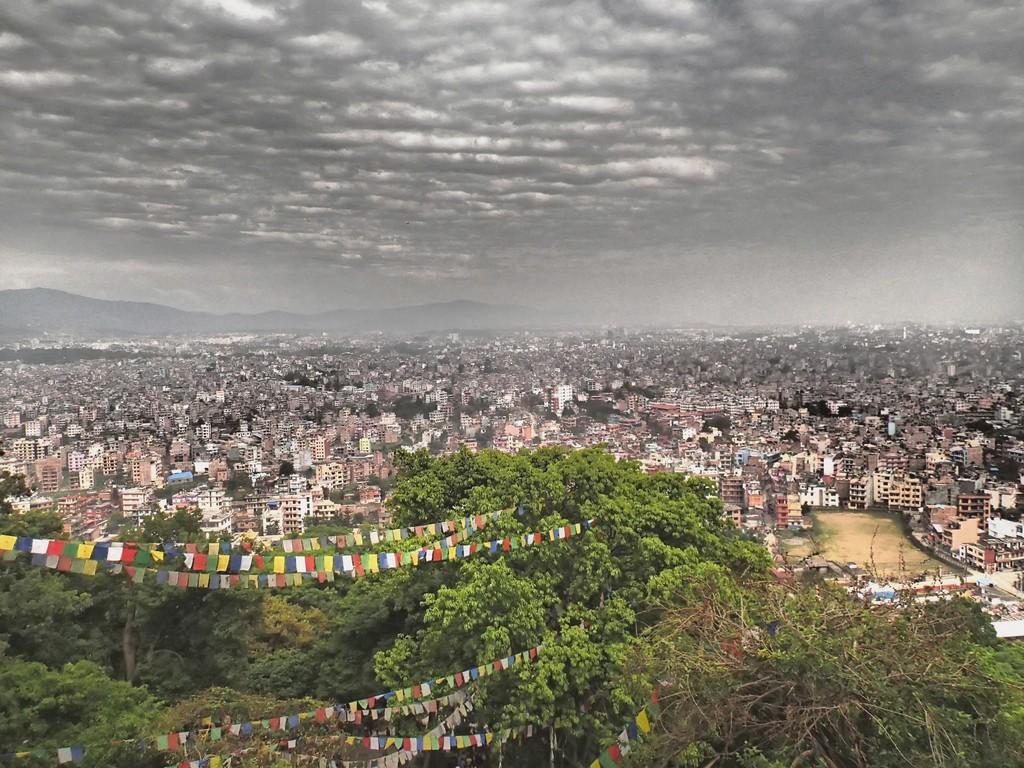 Kelionį į Nepalą - Katmandu iš viršaus