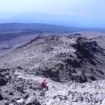Kilimandzaras -Leidžiantis nuo Meru viršūnės